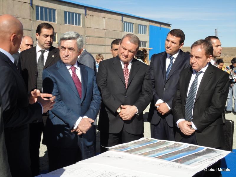 President Serzh Sargsyan's Visit To Sagamar