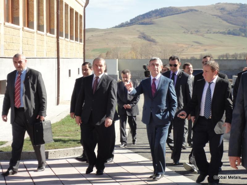 Президент Армении Серж Саргсян посетил ЗАО Сагамар